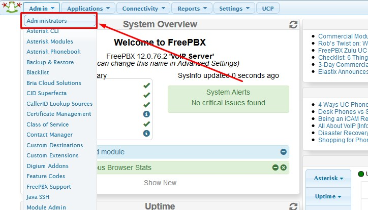 How to change FreePBX and Asterisk default passwords - FoxCloud