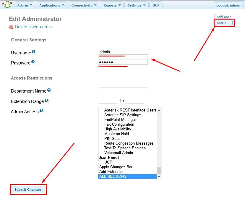 How to change FreePBX and Asterisk default passwords - FoxCloud